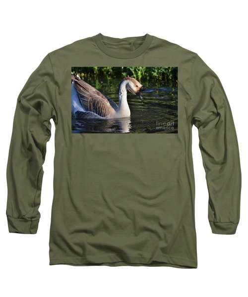 Cascading Elegance Long Sleeve T-Shirt by Debby Pueschel