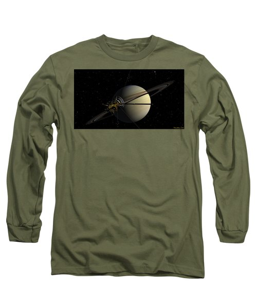 Cassini Orbiting Saturn Long Sleeve T-Shirt