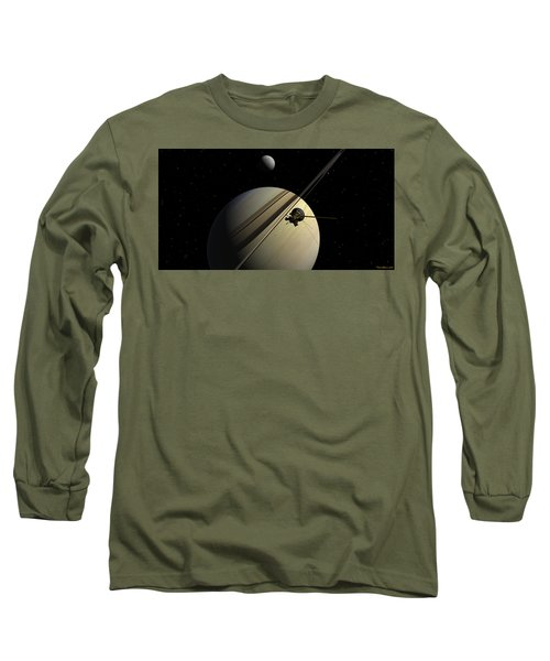 Cassini Passing Tethys Long Sleeve T-Shirt