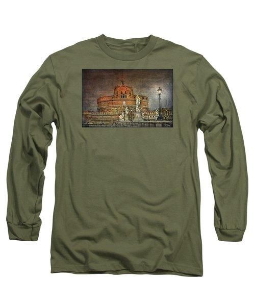 Long Sleeve T-Shirt featuring the photograph Castel Sant Angelo Fine Art by Hanny Heim