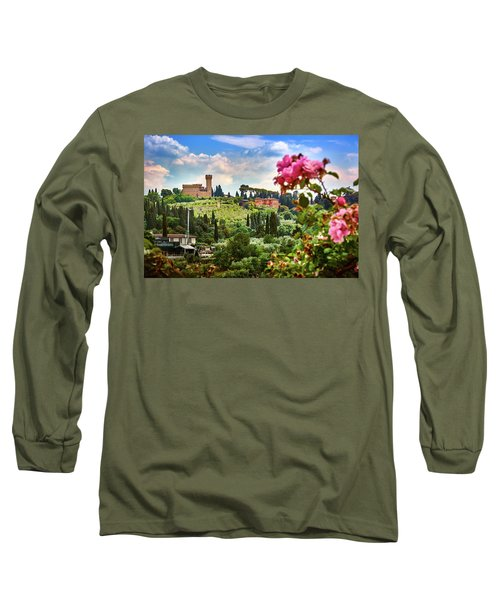 Castle And Roses In Firenze Long Sleeve T-Shirt