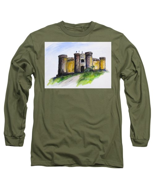 Castle Nuovo, Napoli Long Sleeve T-Shirt by Clyde J Kell