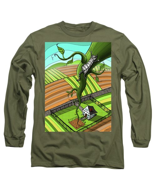 Cat And The Beanstalk Long Sleeve T-Shirt