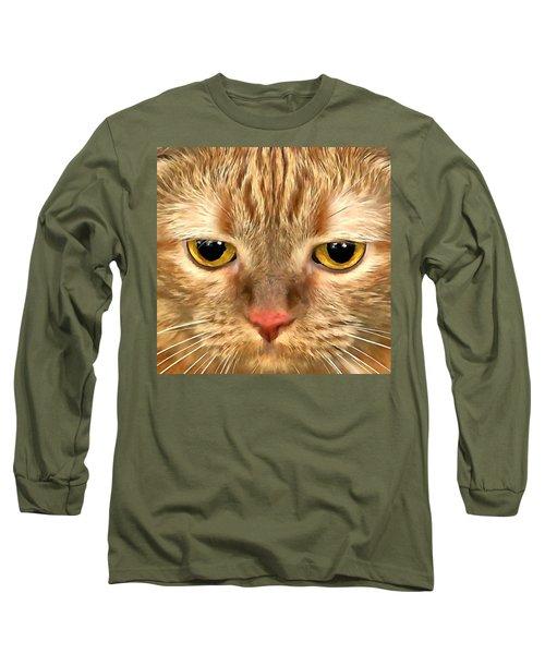 Cat Musya Long Sleeve T-Shirt by Sergey Lukashin