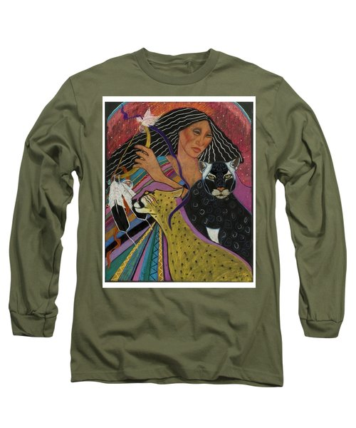 Cat Woman From Palenque Long Sleeve T-Shirt