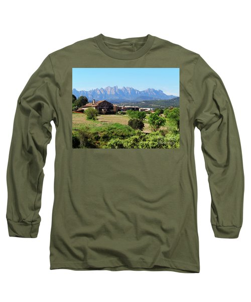 Catalan Landscape In Spring Long Sleeve T-Shirt