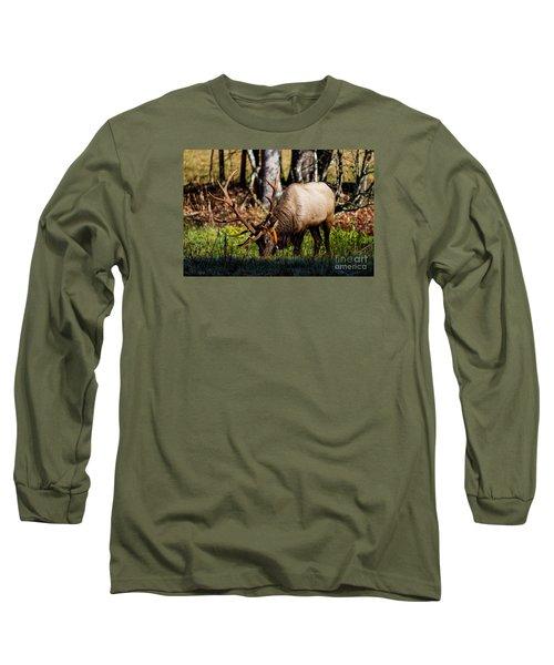 Cataloochee Elk Bull Long Sleeve T-Shirt