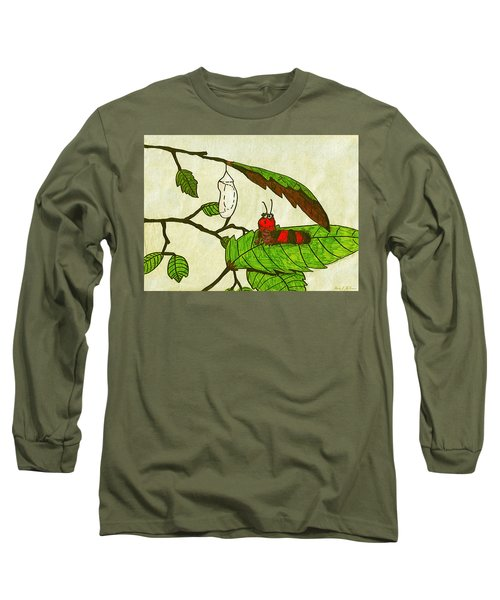 Caterpillar Whimsy Long Sleeve T-Shirt by Wendy McKennon