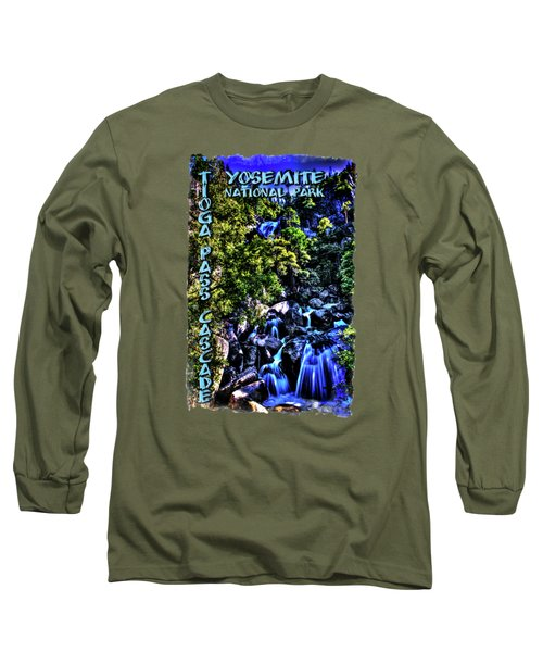 Cathedral Creek Cascade On Tioga Pass Road Long Sleeve T-Shirt
