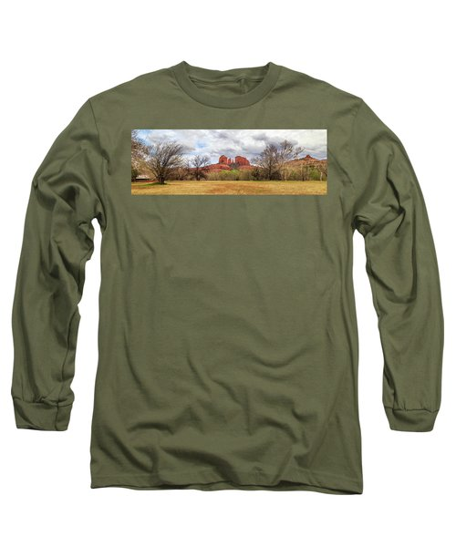 Long Sleeve T-Shirt featuring the photograph Cathedral Rock Panorama by James Eddy