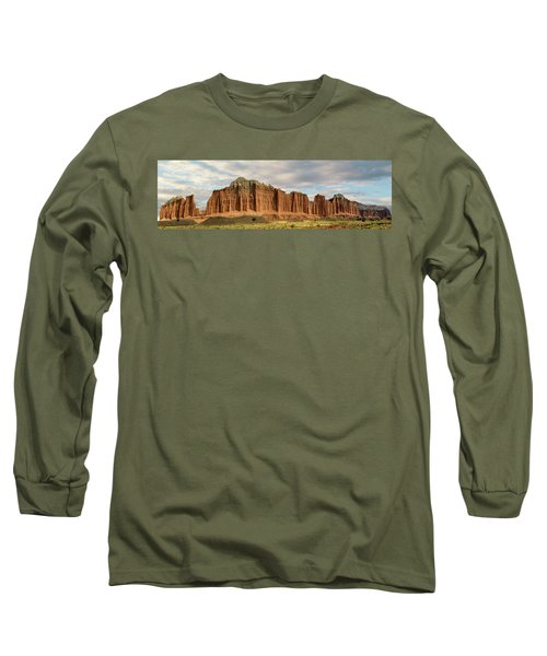 Cathedral Valley Wall Long Sleeve T-Shirt by Gary Warnimont
