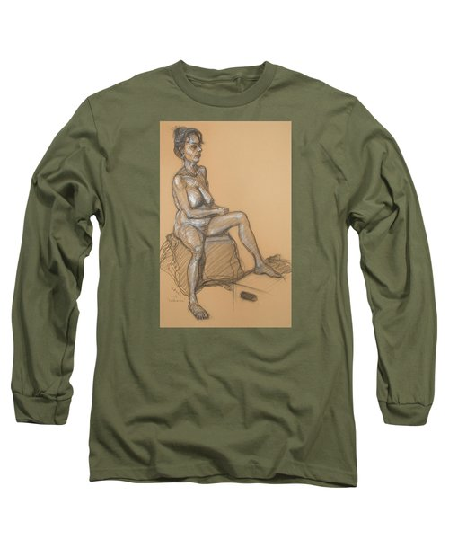 Catherine Seated Long Sleeve T-Shirt by Donelli  DiMaria