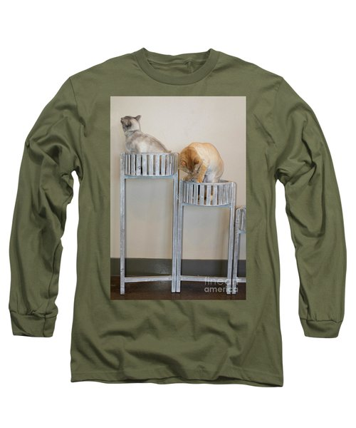 Cats In Baskets Long Sleeve T-Shirt