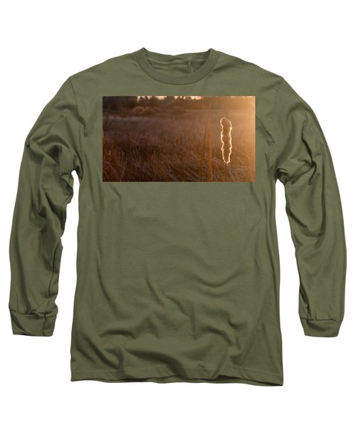 Long Sleeve T-Shirt featuring the photograph Cattail At Sunrise by Monte Stevens