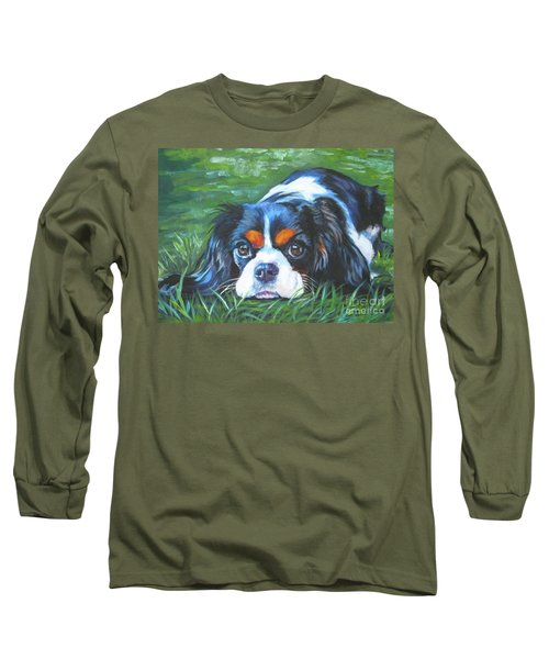Cavalier King Charles Spaniel Tricolor Long Sleeve T-Shirt by Lee Ann Shepard
