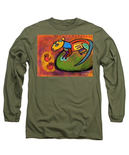 Cave Rat Long Sleeve T-Shirt by Hans Magden