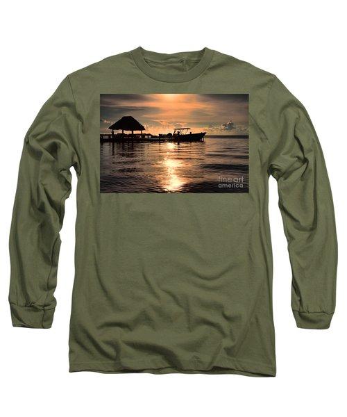 Caye Caulker At Sunset Long Sleeve T-Shirt