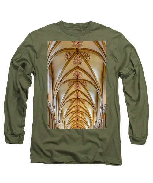 Ceiling, Wells Cathedral. Long Sleeve T-Shirt by Colin Rayner