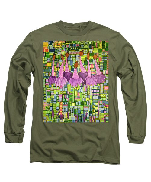 Long Sleeve T-Shirt featuring the painting Celebrate by Donna Howard