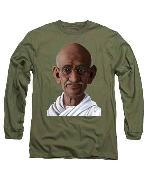 Celebrity Sunday - Mahatma Gandhi Long Sleeve T-Shirt