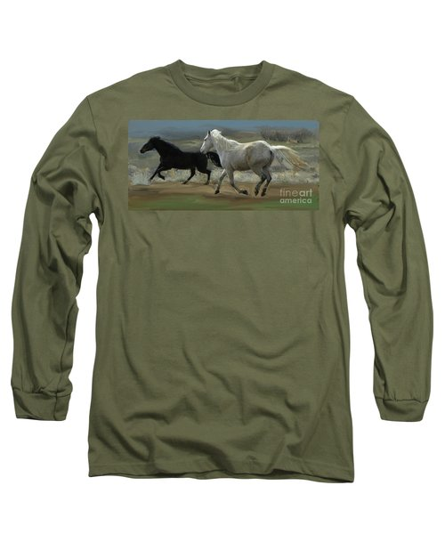 Cello And Greyboy Playing Long Sleeve T-Shirt