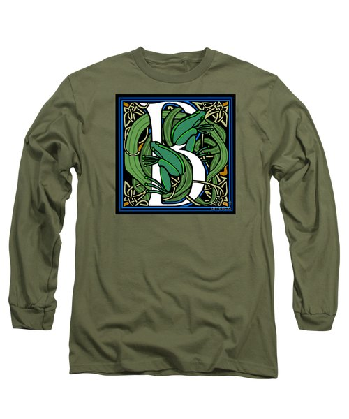 Celt Frogs Letter B Long Sleeve T-Shirt