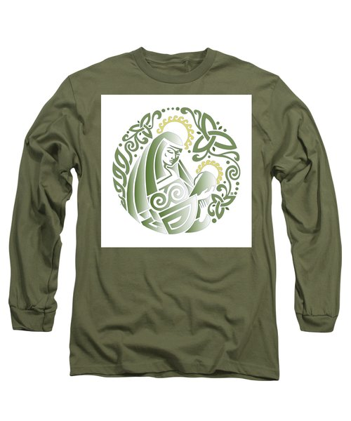 Celtic Green Madonna Long Sleeve T-Shirt