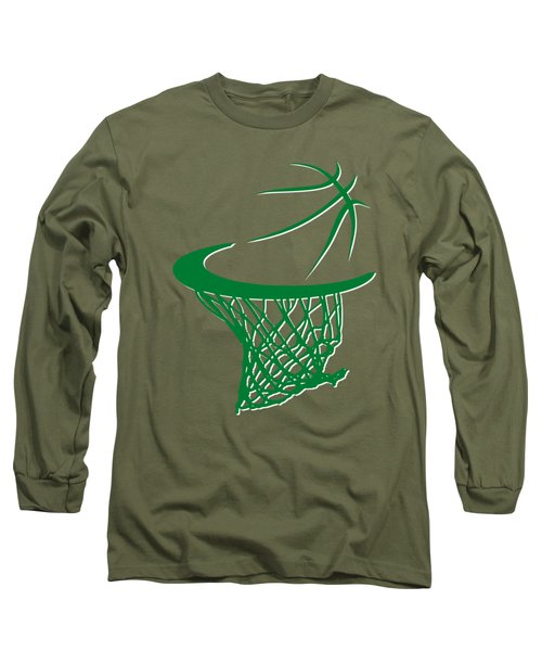 Celtics Basketball Hoop Long Sleeve T-Shirt by Joe Hamilton
