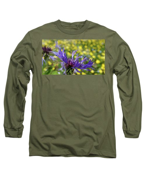 Centaurea Montana Flower Long Sleeve T-Shirt