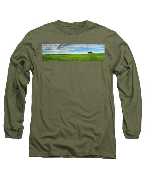 Center Ridge Schoolhouse With Mt. Hood Long Sleeve T-Shirt