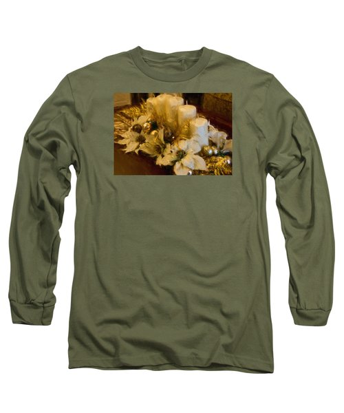Centerpiece For Christmas Long Sleeve T-Shirt by Cathy Jourdan