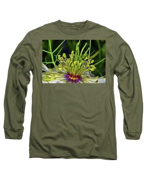 Centerpiece - Love In The Mist Macro Long Sleeve T-Shirt