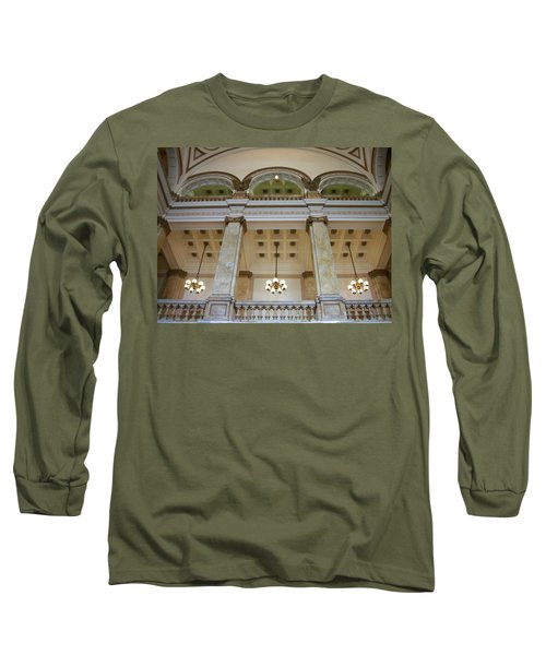 Central Library Milwaukee Interior Long Sleeve T-Shirt