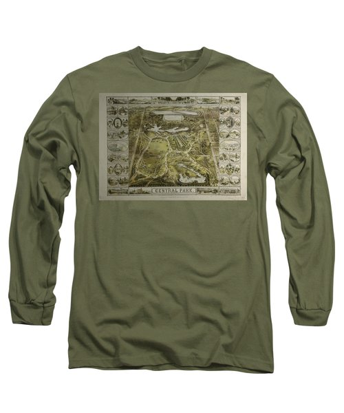 Long Sleeve T-Shirt featuring the photograph Central Park 1863 by Duncan Pearson