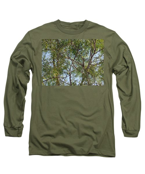 Long Sleeve T-Shirt featuring the photograph Central Texas Sky View Through Mesquite Trees by Ray Shrewsberry