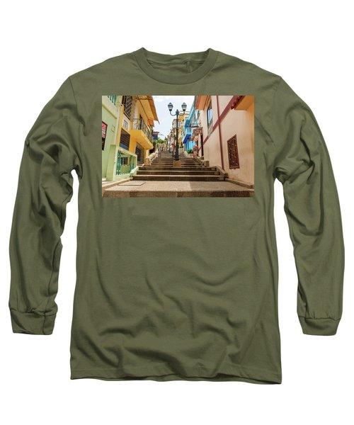 Cerro Santa Ana Guayaquil Ecuador Long Sleeve T-Shirt by Marek Poplawski