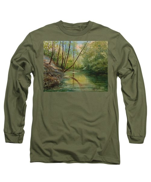 Chagrin River In Spring Long Sleeve T-Shirt