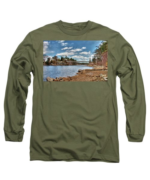 Chain Bridge On The Merrimack Long Sleeve T-Shirt