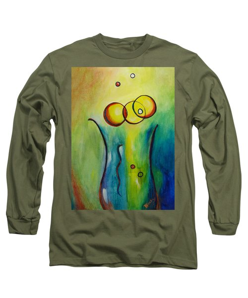 Champagne Long Sleeve T-Shirt by Donna Blackhall