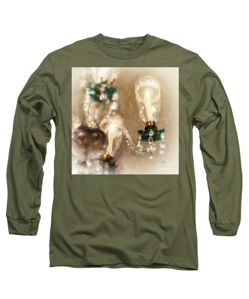 Chandelier At Winterthur Long Sleeve T-Shirt by Lois Bryan
