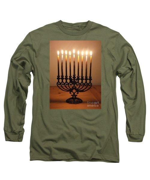Chanukiah Long Sleeve T-Shirt by Annemeet Hasidi- van der Leij