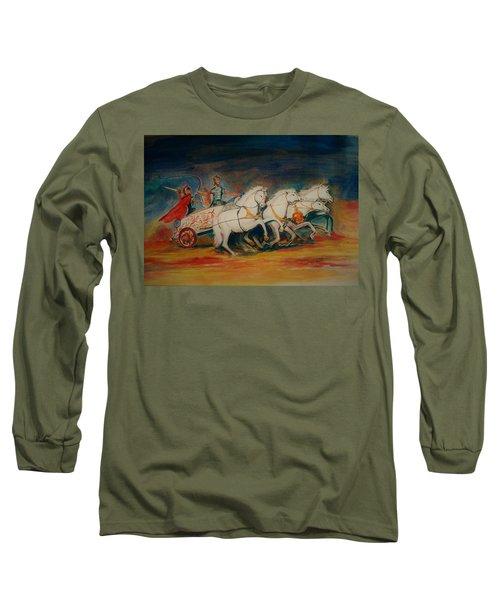 Chariot Long Sleeve T-Shirt by Khalid Saeed