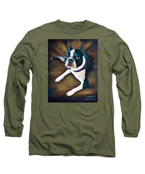 Long Sleeve T-Shirt featuring the painting Charles by AnnaJo Vahle