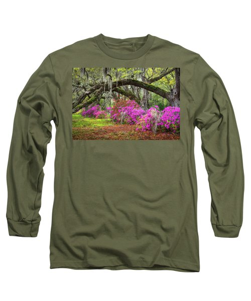 Charleston South Carolina Spring Flowers Lowcountry Landscape Photography Long Sleeve T-Shirt