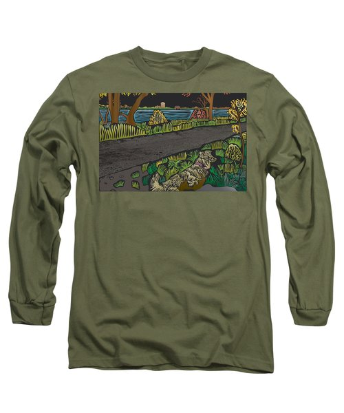 Charlie On Path Long Sleeve T-Shirt by Kevin McLaughlin