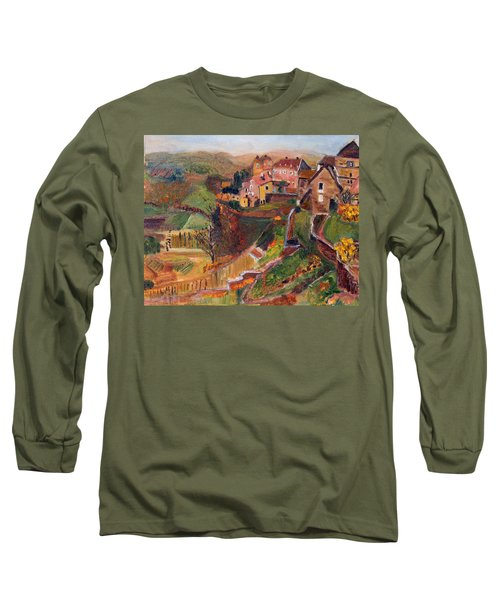 Chateau Chalon Long Sleeve T-Shirt by Michael Helfen