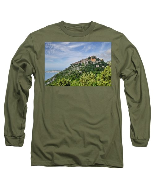 Long Sleeve T-Shirt featuring the photograph Chateau D'eze On The Road To Monaco by Allen Sheffield