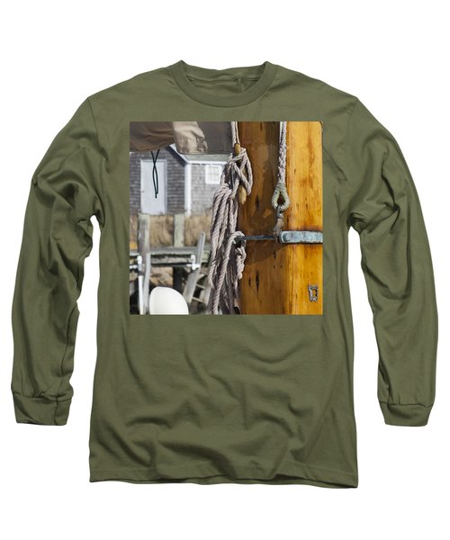 Long Sleeve T-Shirt featuring the photograph Chatham Old Salt by Charles Harden