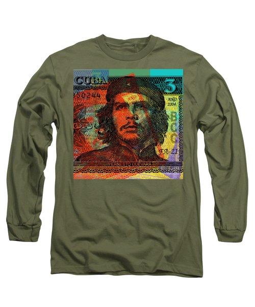 Che Guevara 3 Peso Cuban Bank Note - #1 Long Sleeve T-Shirt