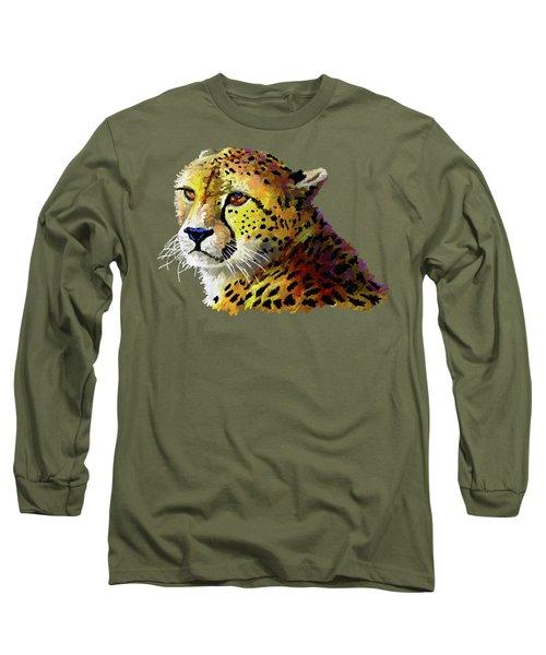 Cheetah Long Sleeve T-Shirt by Anthony Mwangi